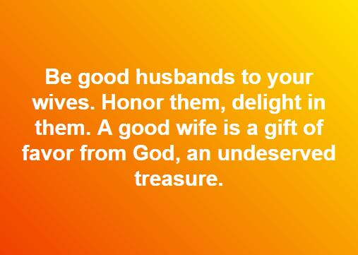 Be Good Husbands